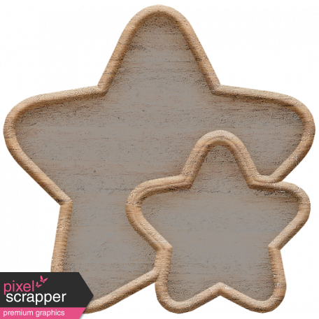 Templates Grab Bag Kit #23: wood stars template