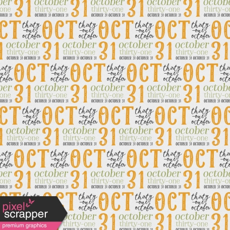 October 31 Papers Kit - Paper 3b