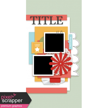 Travelers Notebook Layout Templates - Kit #1 - Template 01C