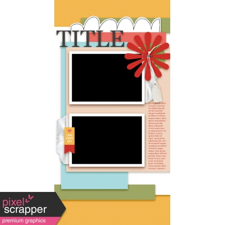 Travelers Notebook Layout Templates - Kit #1 - Template 01D