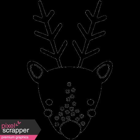 The Good Life: December 2019 Christmas Stamps Kit - reindeer template