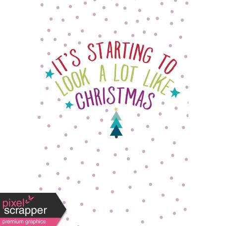 The Good Life: December 2019 Christmas Journal Me Kit - Journal Card 4 4x6