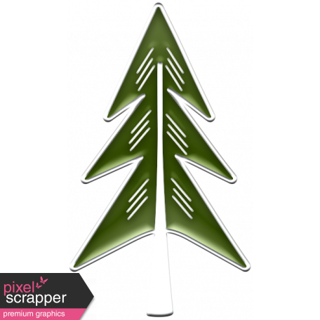 The Good Life: December 2019 Christmas Elements Kit - enamel tree 2