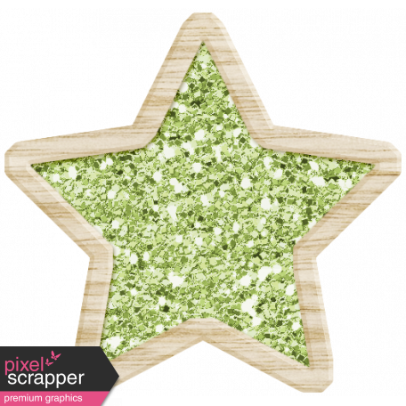 The Good Life: December 2019 Christmas Elements Kit - glitter star green