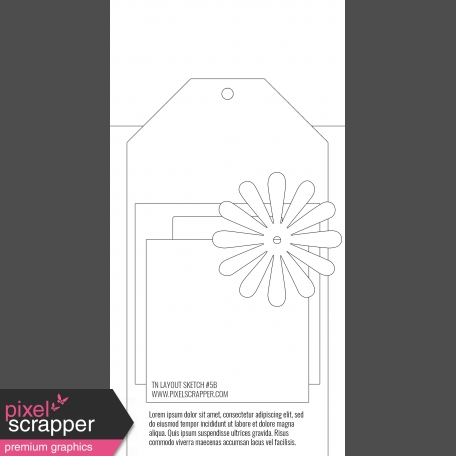 Travelers Notebook Layout Templates Kit #5 - layout template 5b sketch