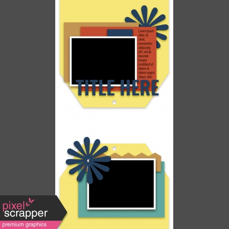 Travelers Notebook Layout Templates Kit #5 - layout template 5d