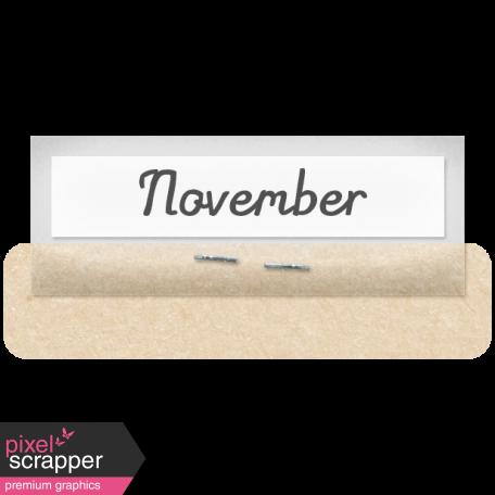 Clear Calendar Tabs Kit - clear tab november