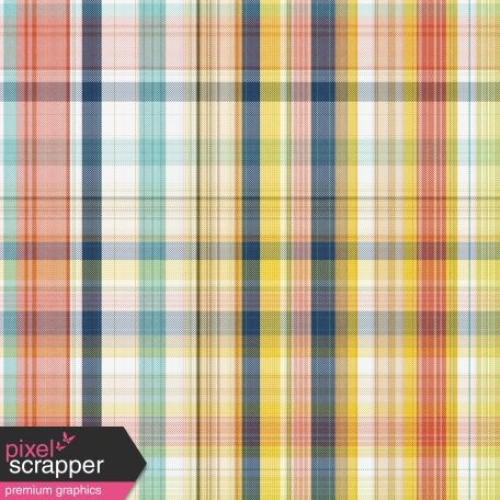 The Good Life: February 2020 Papers Kit - Plaid Paper 2
