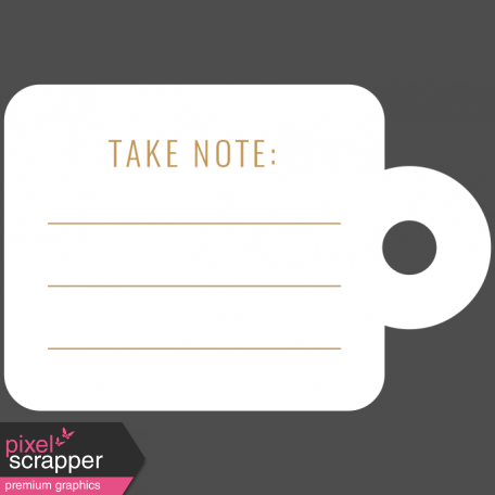 The Good Life - February 2020 Words & Labels - Label Take Note Tag