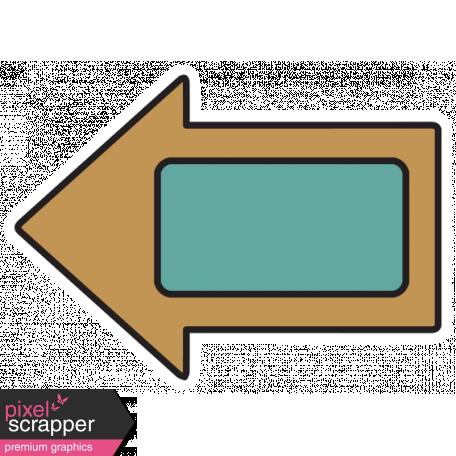 The Good Life - February 2020 Tags & Stickers - Sticker Arrow Tan