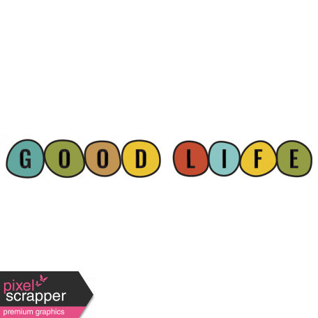The Good Life - February 2020 Tags & Stickers - Sticker Good Life