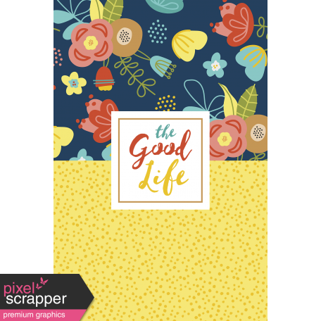 The Good Life - February 2020 Journal Me - Card 04 4x6