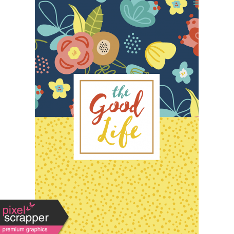 The Good Life - February 2020 Journal Me - Card 04 Passport