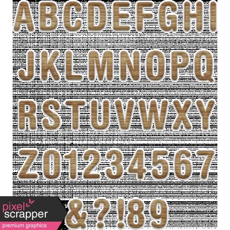 Basic Alphas Kit #2 - Wood Alpha