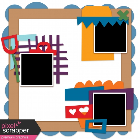 Layout Templates Kit #57 - layout template 57b