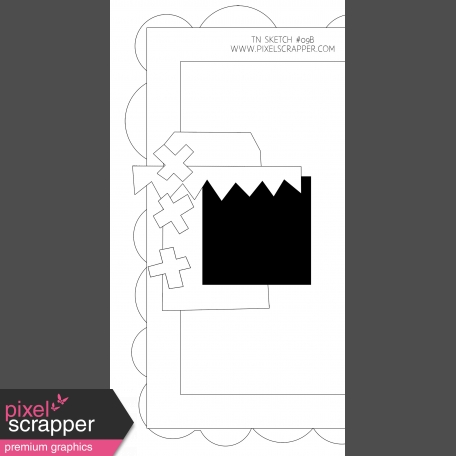 Travelers Notebook Layout Templates Kit #9 - sketch 9b