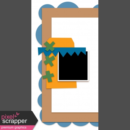 Travelers Notebook Layout Templates Kit #9 -  template 9b