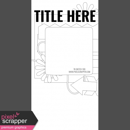 Travelers Notebook Layout Templates Kit #10 - Layout Template Sketch 10d