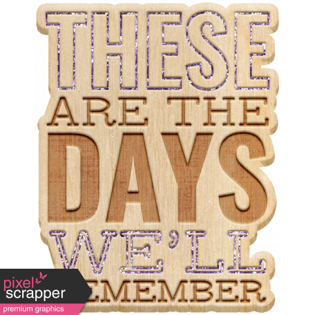 The Good Life: August 2020 Elements Kit - these are the days 2