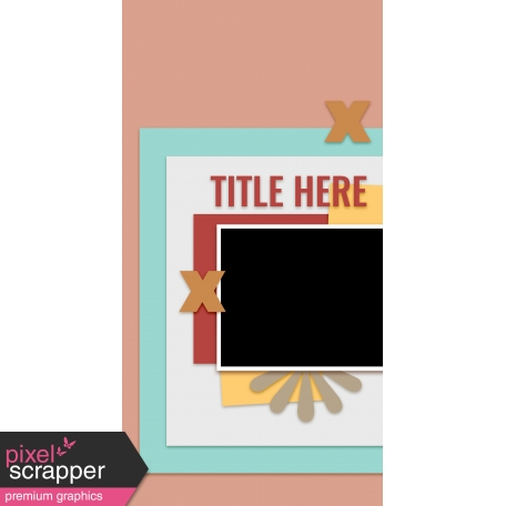 Travelers Notebook Layout Templates Kit #12 - Layout Template 12B