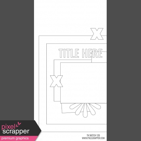 Travelers Notebook Layout Templates Kit #12 - Sketch Template 12B