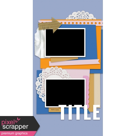 Travelers Notebook Layout Templates Kit #14 - Layout Template 61d