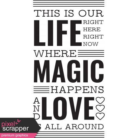 The Good Life - October 2020 Stamps Kit - life magic love template