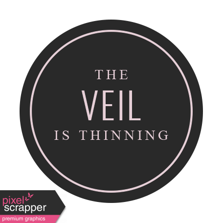 The Good Life - October 2020 Samhain Mini Kit - label the veil is thinning