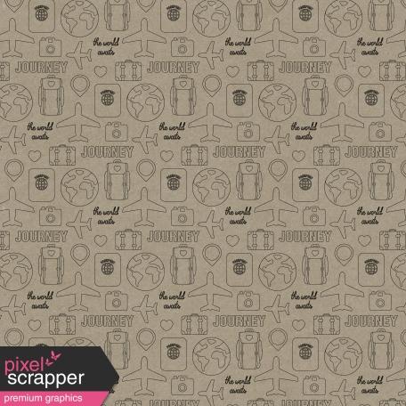 World Traveler #2 Papers Kit - Paper 12b