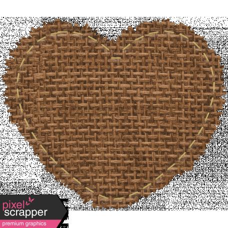 The Good Life: February 2021 Mini Kit - burlap mat heart brown