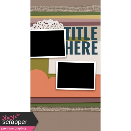 Traveler's Notebook Layout Templates Kit #20 - Layout Template 20A