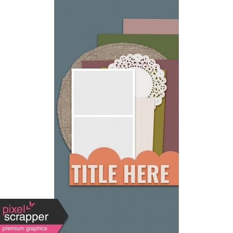 Traveler's Notebook Layout Templates Kit #20 - Layout Template 20D