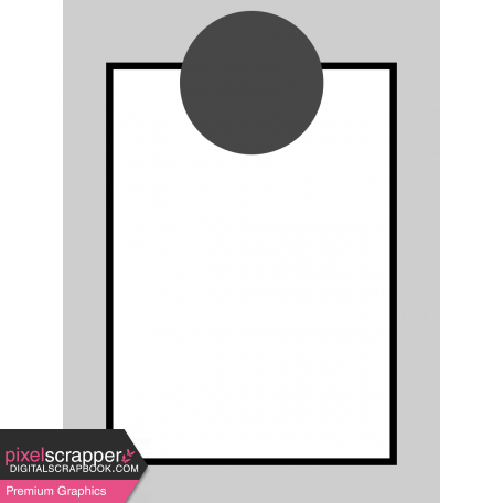 Pocket Card Template Kit #9_Pocket Card-Border With Circle 3x4