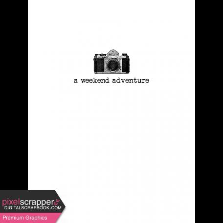 Pocket Card Template Kit #9_Pocket Card-Camera-A Weekend Adventure 3x4