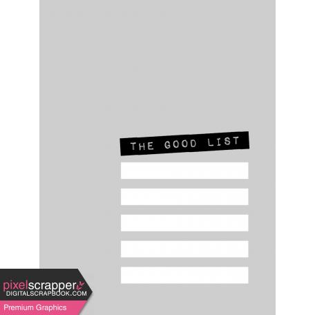 Pocket Card Template Kit #9_Pocket Card-List-The Good List 3x4