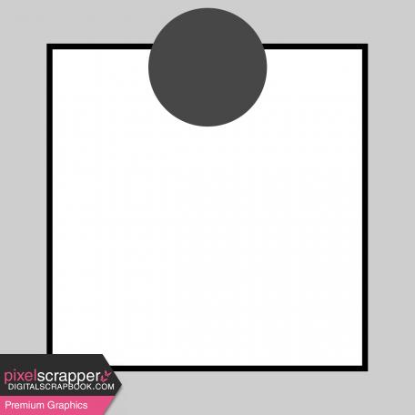 Pocket Card Template Kit #9_Pocket Card-Border With Circle 4x4