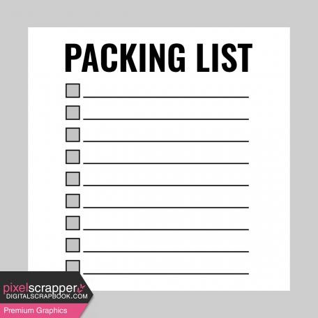 Pocket Card Template Kit #9_Pocket Card-List-Packing List 4x4