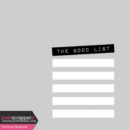 Pocket Card Template Kit #9_Pocket Card-List-The Good List 4x4