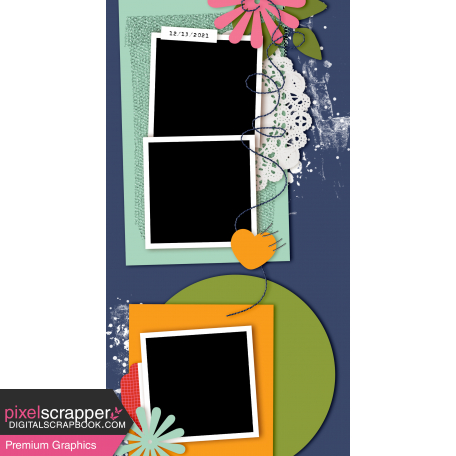 Travelers Notebook Layout Templates Kit #29 - Layout Template 29d