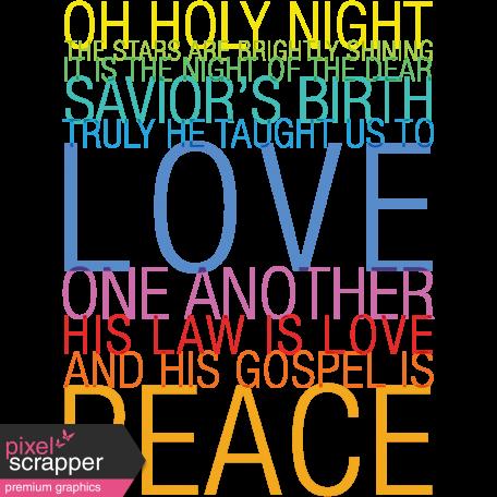 Jolly Word Art - Oh Holy Night