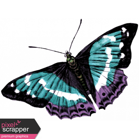 Winter Arabesque Butterfly - Teal