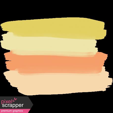 Paint 1 - Orange & Mint Green Stripes Here & Now Paint