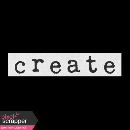 Create Something Label Create