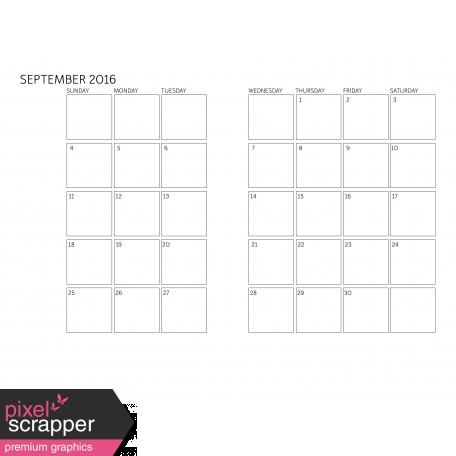 Monthly Calendar 2016 09