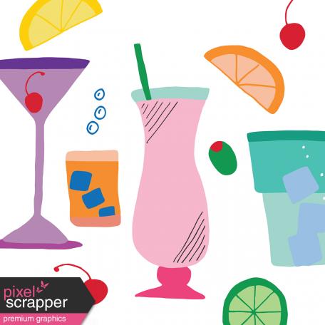 Fancy Drinks Journal Card 04 4x4