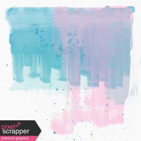 Summer Day - Mini Kit - Paper - Blue & Pink Paint
