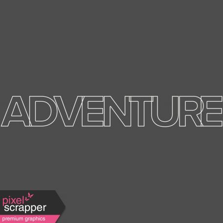 Nature Escape - Minikit - Element - Word Art - Adventure