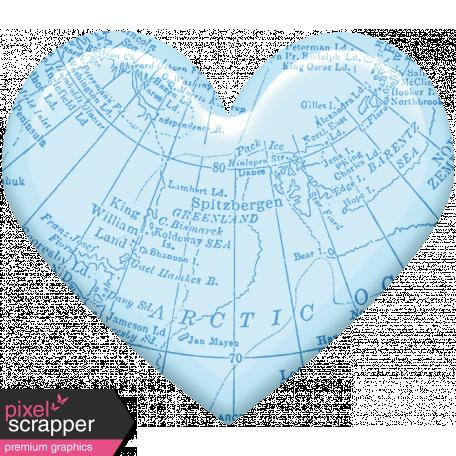 Love Knows No Borders - Minikit - Heart - Blue