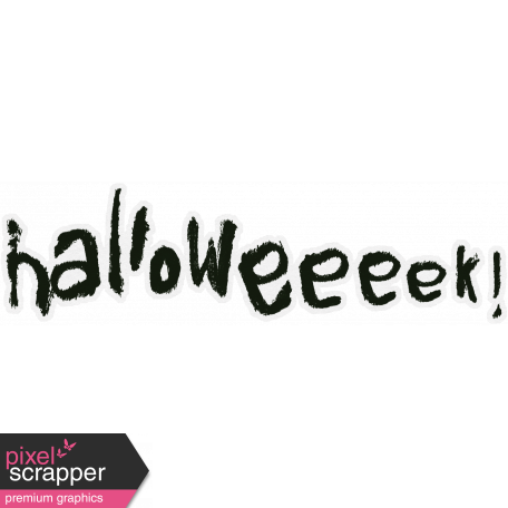 Halloweeeek! Minikit - Word Art - Halloweeeek!