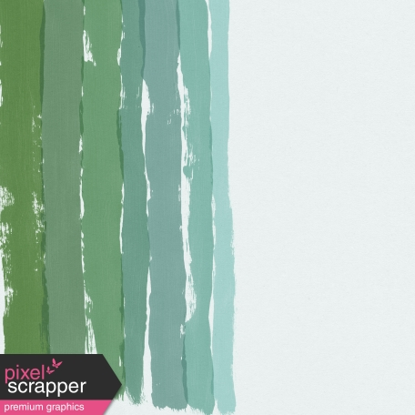 Mixed Media 2 - Papers - Paint Strokes Green